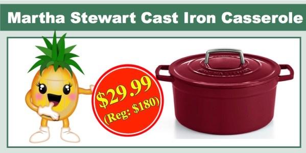 Martha Stewart 6Qt Cast Iron Casserole
