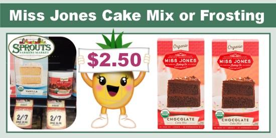 Miss Jones Organic Cake Mix or Frosting Coupon Deal