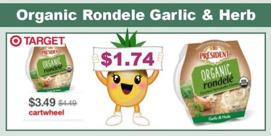 President Organic Rondele Garlic & Herb coupon deal