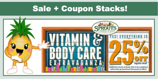 sprouts vitamin and body care extravaganza