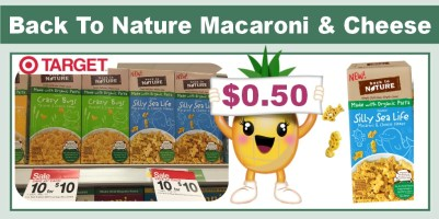 Back To Nature Macaroni & Cheese Coupon Deal