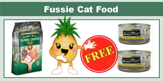 free fussie cat food