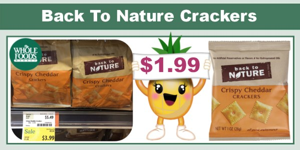 Back To Nature Crispy Cheddar Crackers Coupon Deal