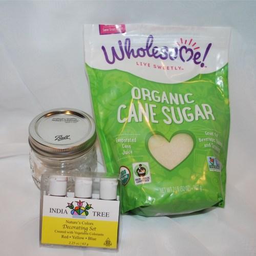 DIY Organic Colored Sanding Sugar Ingredients