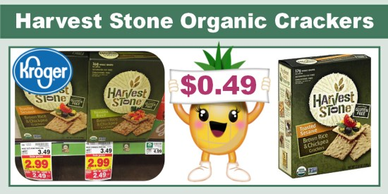 Harvest Stone Organic Crackers Coupon Deal
