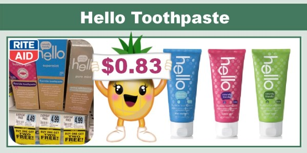 Hello Toothpaste Coupon Deal