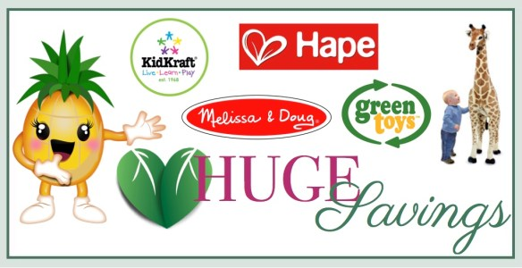 huge savings on melissa & doug, hape , kidkraft and green toys