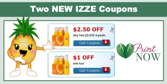 izze coupons (4 Pack)