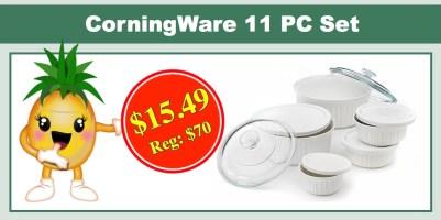 CorningWare 11 PC French White Serverware Set