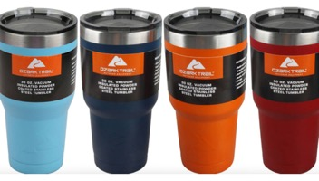 ozark trail double wall vacuum sealed tumblers and can cooler
