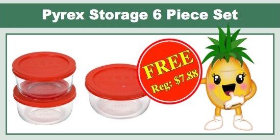 pyrex storage 6 piece set