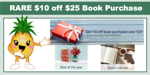 RARE $10 off $25 in Book Purchase
