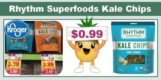 rhythm superfoods organic kale chips coupon deal