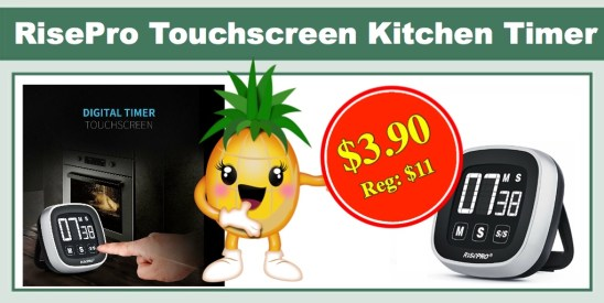 Risepro Digital Touchscreen Kitchen Timer