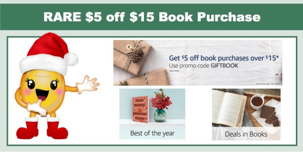 Amazon: $5 off $15 in Book Purchase