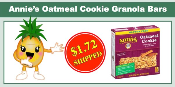 Annie's Oatmeal Cookie Granola Bars (5 Pack)