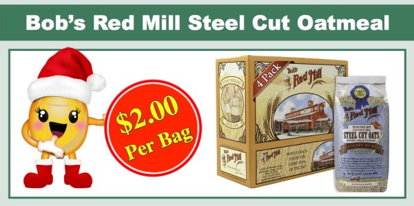 Bob's Red Mill Steel Cut Oatmeal (4 Pack)
