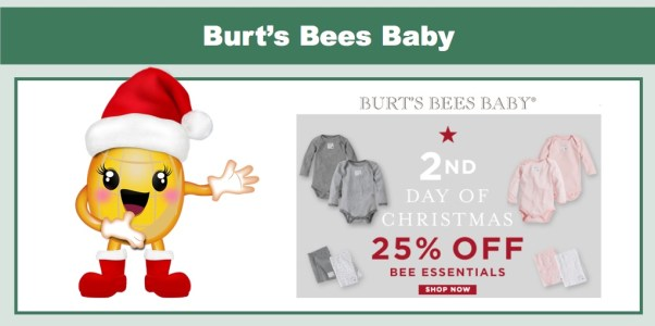 25% off Bees Essentials from Burt's Bees Baby