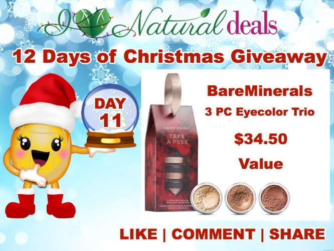 giveaway on the 11th day of christmaswin bare minerals 3 piece bestselling eyecolor collection 3450 value