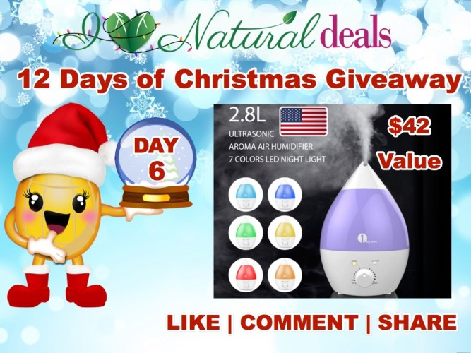 Win a 2.8L Ultrasonic Aroma Air Humidifier Diffuser ($42 Value)