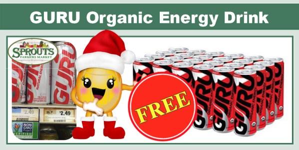 GURU Organic Energy Drink Coupon Deal