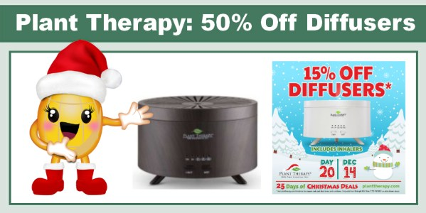 Plant Therapy 15% off Diffusers!