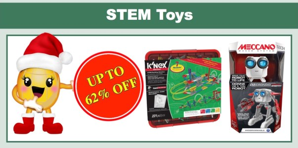 Up to 62% off STEM Toys!