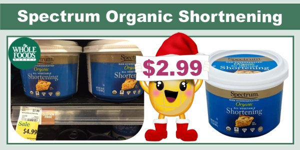 Spectrum Organic Shortnening Coupon Deal