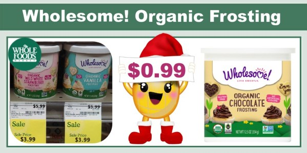 Wholesome! Organic Frosting Coupon Deal