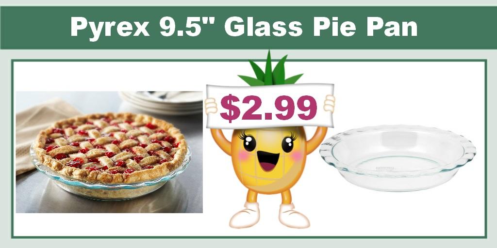 """Pyrex Grip Rite 9.5"""" Glass Pie Pan"""