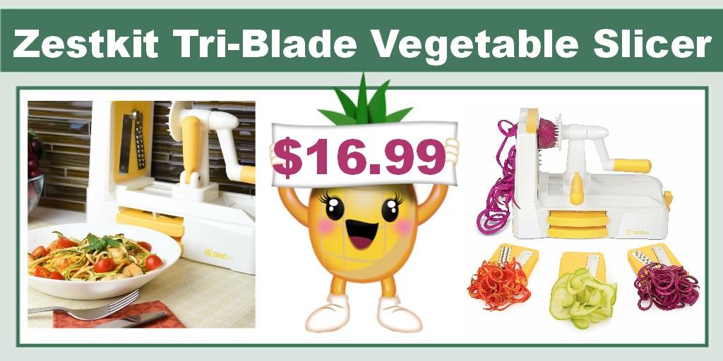 Zestkit Tri-Blade Vegetable Slicer