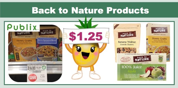 Back to Nature Cereal, Granola or Juice Coupon Deal