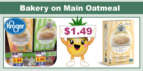 Bakery on Main Oatmeal Coupon Deal