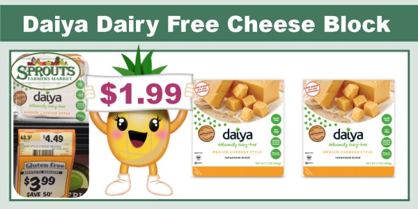 Daiya Dairy Free Cheese Block Coupon Deal