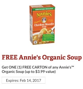 Annie's Homegrown Organic Soup Coupon