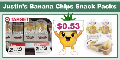 Justin's Banana Chips Snack Packs Coupon Deal