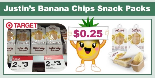 Justin's Banana Chips Snack Pack Coupon Deal