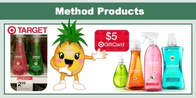 FREE $5 Gift Card wyb 5 Method Products at Target!