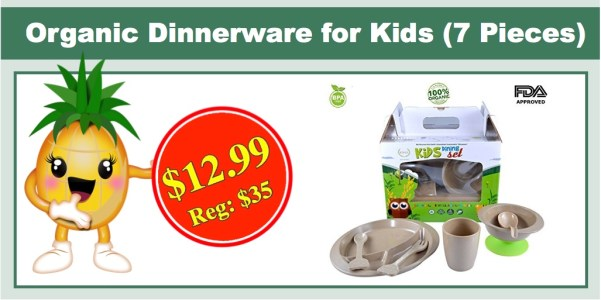 Organic Dinnerware for Kids (7 Pieces)