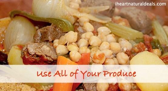 organic produce meal