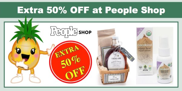 extra 50% off at People Shop