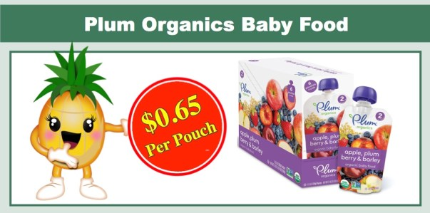 Plum Organics Organic Baby Food