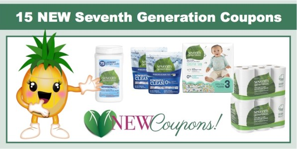 15 NEW Seventh Generation Coupons