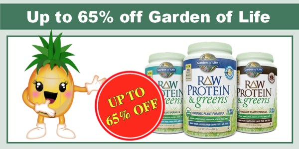 Up to 65% off Garden of Life Nutrition Products
