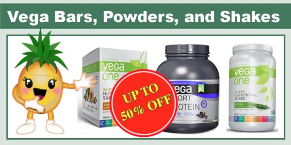 Up to 50% Off Vega Plant-Based Protein Bars, Powders, and Shakes