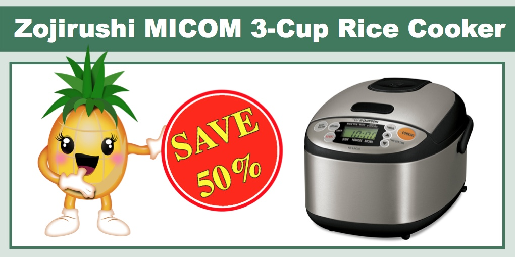 4a72f85a836 Macy s 50% off Kitchen Spectacular Sale   Zojirushi NS-LAC05XT MICOM 3-Cup  Rice Cooker   Warmer for  107.50 (Reg   214.99)!