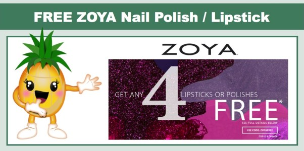 *HOT* Get 4 FREE Zoya Lipstick or Nail Polish - Just Pay Shipping!