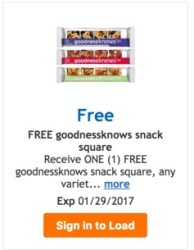 goodnessknow snack squares coupon