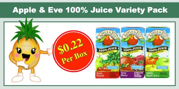 Apple & Eve 100% Juice Variety Pack, 32 Ct