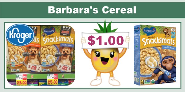 Barbara's Cereal coupon deal